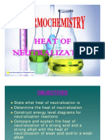 Thermochemistry - Heat of Neutralization
