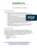 Cleaning Validation Boot Camp