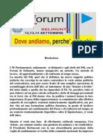 Risoluzione Forum PdL Selinunte