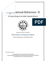 Organisational Behaviour -II A Project Report on India Yamaha Motors