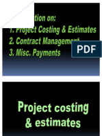 22-10 Finance Induction Training Project Costing, Mgt & Payments