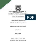 EL CARÁCTER SOCIAL DE LA EDUCACIÓN