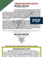 (Invitación a Intercambio Publicitario) 30 de Julio Lanzamiento del MP3 ROCK TOUR 2011- Mercado Músico
