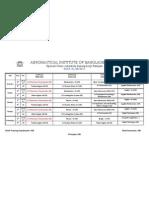 New Class Schedule 2011