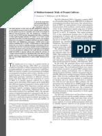 Evaluation of Multienvironment Trials of Peanut Cultivars