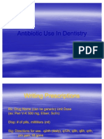 Antibiotic Use in Dentistry
