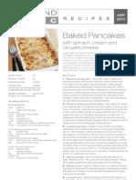 Jan 2011 Spinach & Gruyere Pancakes