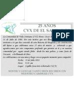 25 años CVX de El Salvador