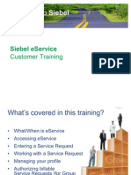 Siebel Eservice Customer Training Final