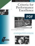 2002 Baldrige Business Criteria
