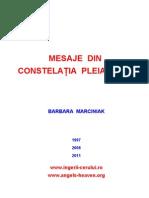MESAJE DIN CONSTELAŢIA PLEIADELOR (BARBARA MARCINIAK)