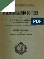 O descobrimento do Tibet,  de Antonio de Andrade
