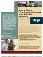 Doctor of Ministry in Transformational Leadership for the Global City