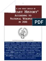 Military History According to National Wikipedias in 2011