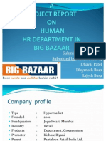 Hrm Project Report on Big Bazaar