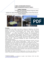 The future of Information Sciences Cases studies in American resources centers