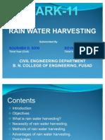 ppt on Rain Water Harvesting