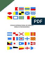 Código Internacional de Señales (INTERCO), señales por banderas.
