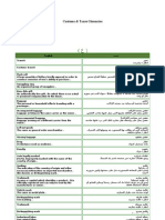 Customs &Taxes Glossaries