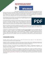 CÓMO PROMOVER CON FACEBOOK TEMAS DE CIUDADANIA DIGITAL