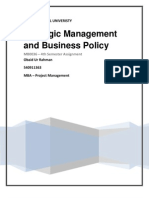 MB0036 – Strategic Management and Business Policy