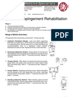 Shoulder Impingement Rehabilitation