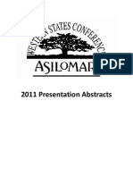 WSC Abstracts - 2011