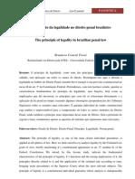 O princípio da legalidade no direito penal brasileiro
