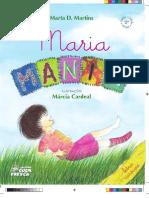 Editoração da 2ª Edição do Livro Maria Mania (Letra Cursiva)