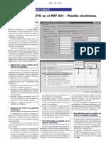 Registro de la CTS en el PDT 601 - Planilla electrónica - Boletín
