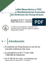 Vasculitis mesentérica y fiebre de origen desconocido