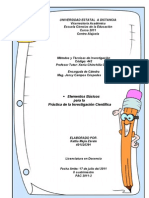 Trabajo A. Elementos Básicos para la Invest Científica
