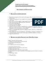 Requisitos de Inscripción al Doctorado