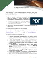 Procedimientos de Registro de cia y Lista de Escalamiento - Optical