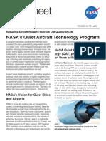 NASA's Quiet Aircraft Technology Program