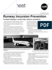 Runway Incursion Prevention Cockpit Displays Could Help Reduce Accidents