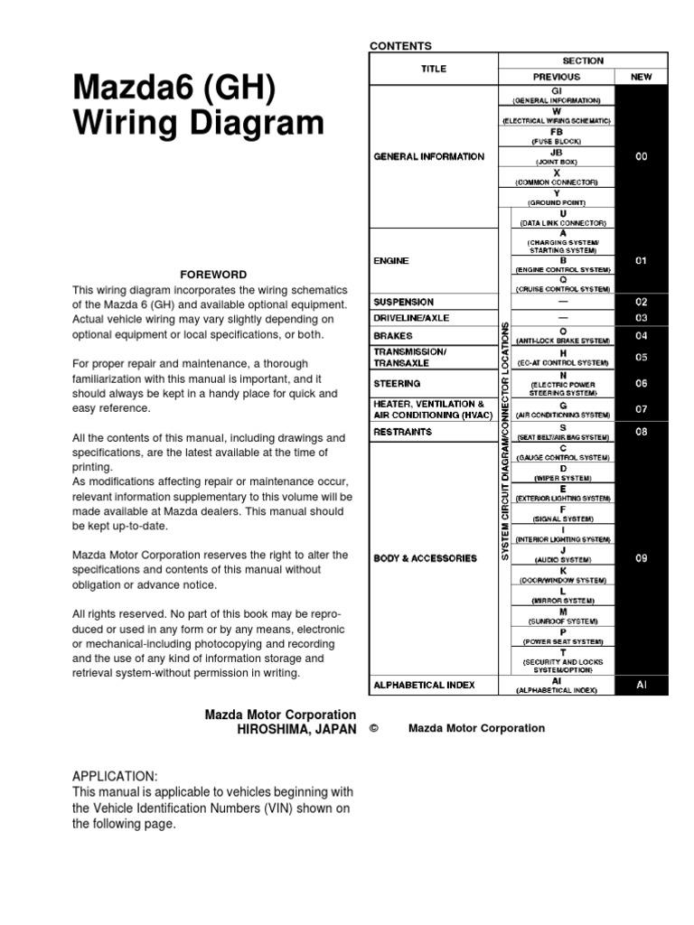 Mazda6  Gh  Wiring Diagram