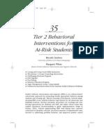 Chap35 Tier 2 Behavior Interventions AtRisk Students