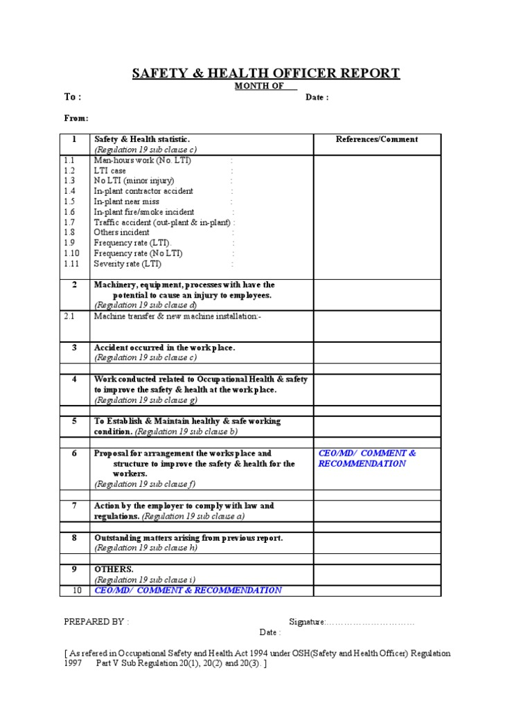 Safety report templates 15+ free word, pdf, apple pages format.