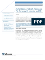 Authenticating Network Appliances File Servers with Likewise and Active Directory