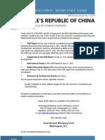 IMF Report on China 2011