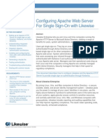 Configuring Apache Web Server For Single Sign-On with Likewise