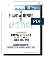 financial analysis of TATA STEEL