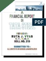 financial analysis of TATA STEEL