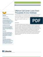 Offshore Call Center Locks Down Thousands of Linux Desktops