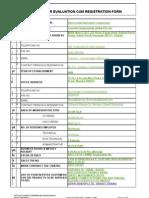 Supplier Evaluation Cum Registration Form Final