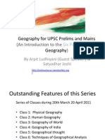Geography UPSC