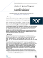 Spectrum Liberalisation and Interference Management