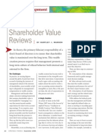 Shareholder Value Reviews