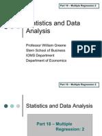 Statistics 18 Multiple Regression Part 2